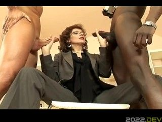 INXESSE RADICAL LADY SONIA PRESENTS DOUBLE DRENCHED WITH CUM! B&W BJ BIG TITTED BRITISH MILF