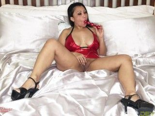 Ballistic Metal Dipstick making Horny Asian Hotwife Cum and Squirt for XXXmas