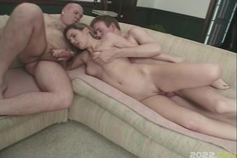 Blonde Teenies Having Hardcore Sex On The Couch
