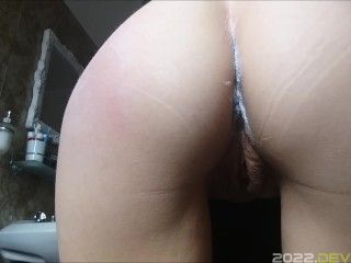 spank and pee for my beautiful horny stepaunt