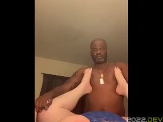 Interracial BBW On BBC Rough Fucking Frontal View