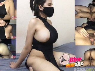 Asian girl in china uniform was fucked by thai guy (creampie in pussy)