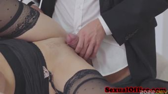 Gorgeous ###ary facialized by boss after officesex