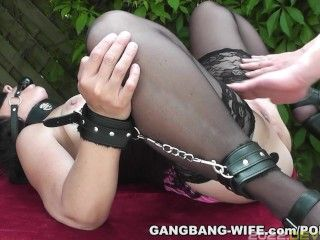 New pissing fun with naughty slutwife