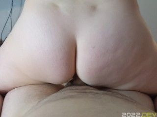 MILF with back Dimples Bouncing on Hubby dick-littlemusclecouples