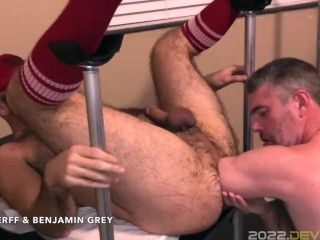 HungerFF Gets Rimmed and Fisted By Benjamin Gray JUSTFOR.FANS/HUNGERFF