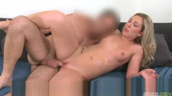Horny blonde fuck and sweat