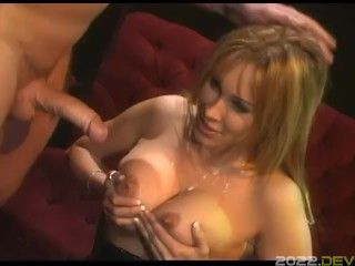 Blonde Secretary With Big Tit Fucked Hard by Boss Huge Cock