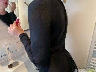 hot wife secretly fucked during dinner party at a friend's house - long version