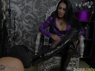 Mistress Kennya: Slave trained to suck dick and clean My Boots Preview