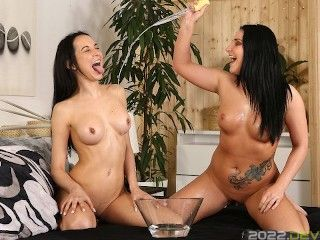 Stunning Brunettes Love To Play With Their piss