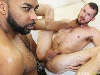 Tattooed guy gets fucked by the Bull