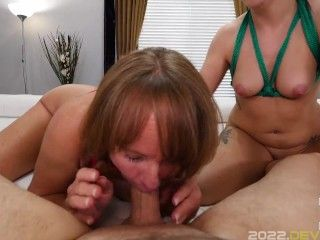 Hot Cock Service POV With Cyndi Sinclair and Shelby Paris!!