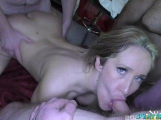Hot gangbang fuck party with lusty English sluts Isabella Bangs and Lexi Ryder