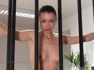 Tyron's bare back whipping at prison 0208