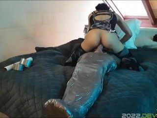 Bondage, Latex Vacuum Bed, Body Sack, Mummification - Side Of Light - Content Preview