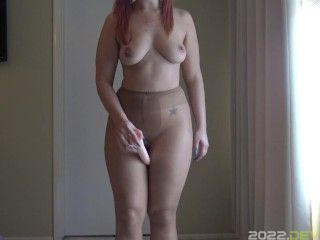 JOI Thigh Fucking in Nylons with SPH- A Dani Sorrento clip