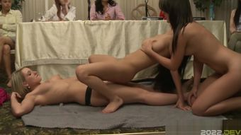 Univeristy lesbos pussy pleasing contest