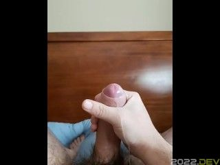 Fat boy with a thick cock squirting cum