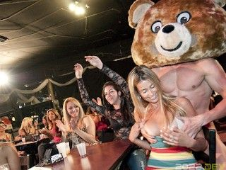 DANCING BEAR - These Hoes Can't Resist Big Cock In Their Face