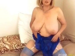 Annabel's electric blue sheer negligee