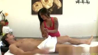 Asiansex Masseur Tugging Her Clients Nob