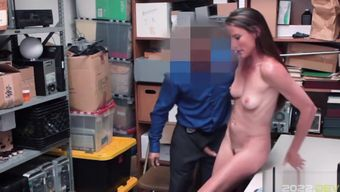 Shoplyfter Sofie Maries pussy bounces on top of the LP Officer!